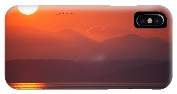 IPhone Case featuring the photograph Japanese Sunset by Brad Brizek