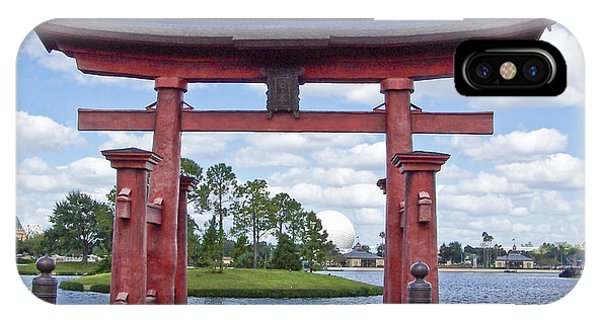 Japanese Torri Gate At Epcot IPhone Case