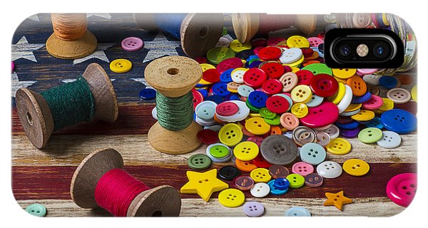 Jar Of Buttons And Spools Of Thread IPhone Case