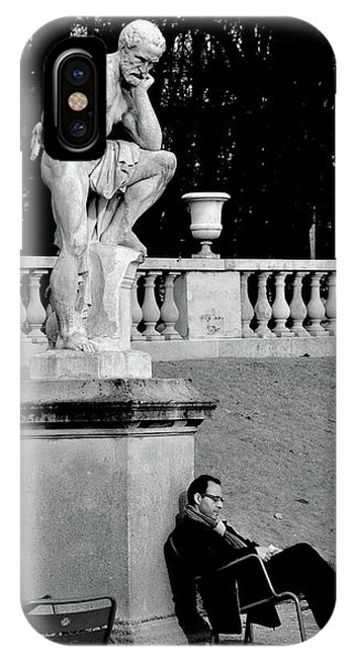 French iPhone X Case - Jardin Du Luxembourg by St??phane Breton