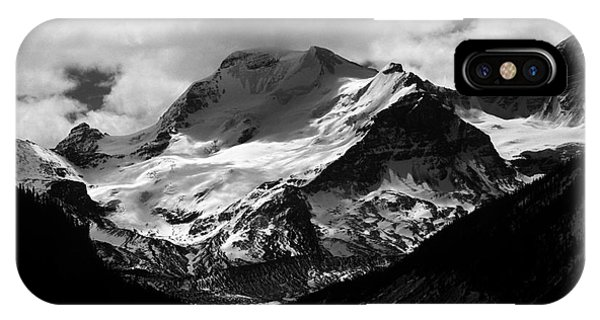 Jasper - Mt. Athabasca Monochrome IPhone Case