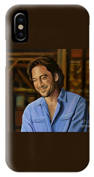 Barcelona iPhone Case - Javier Bardem Painting by Paul Meijering