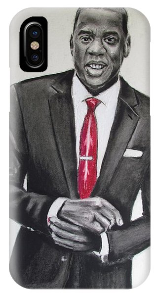 IPhone Case featuring the drawing Jay Z by Eric Dee