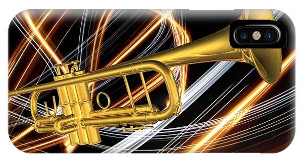 Jazz Art Trumpet IPhone Case