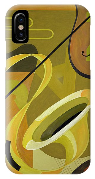 Yellow Trumpet iPhone Case - Jazz by Carolyn Hubbard-Ford