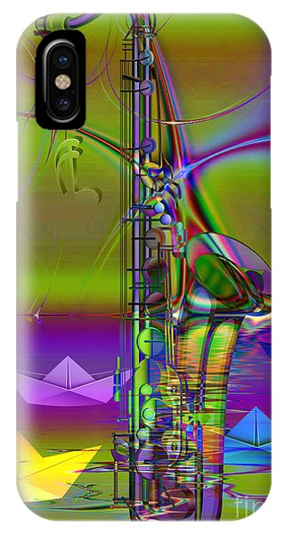 IPhone Case featuring the digital art Jazz Chill by Eleni Mac Synodinos