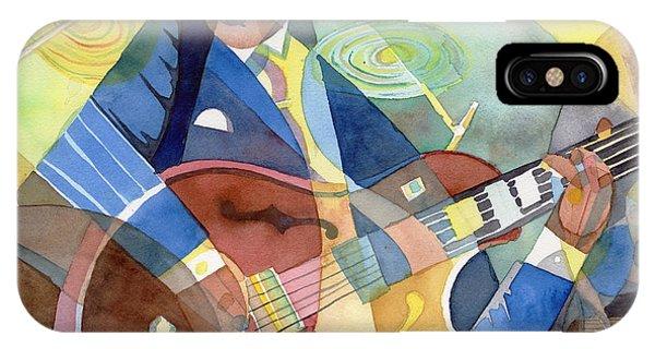 Jazz Guitarist IPhone Case