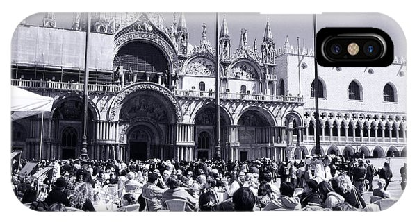 Jazz In Piazza San Marco Black And White  IPhone Case