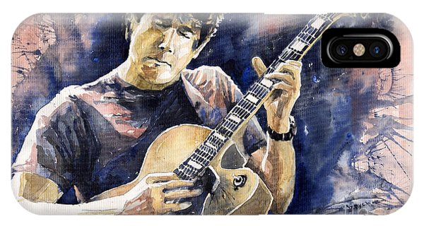 Impressionism iPhone X Case - Jazz Rock John Mayer 06 by Yuriy Shevchuk