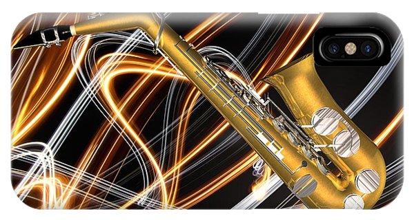 Jazz Saxaphone  IPhone Case