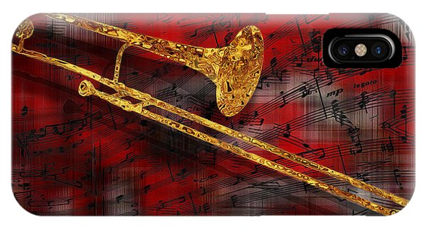 Trombone iPhone Case - Jazz Trombone by Jack Zulli
