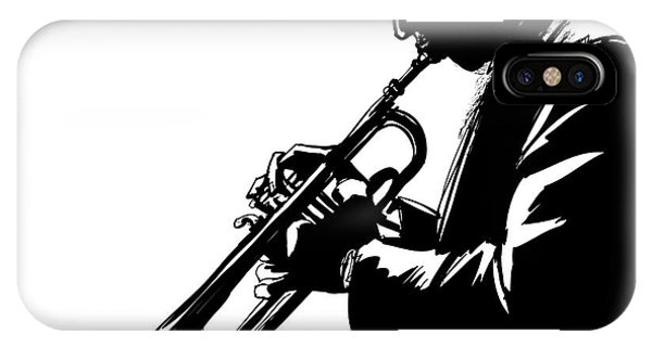 Musical iPhone Case - Jazz Trumpet Player-vector Illustration by Isaxar