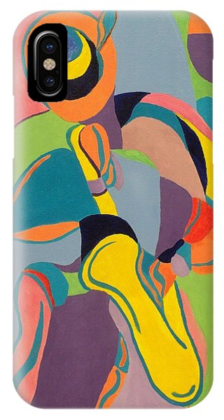 Jazzamatazz Saxophone IPhone Case