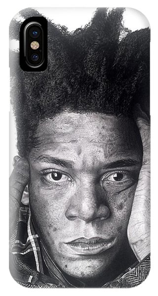 Jean-michel Basquiat Drawing IPhone Case