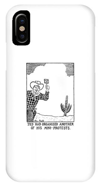 Protest iPhone Case - Jed Had Organized Another Of His Mini-protests by Glen Baxter