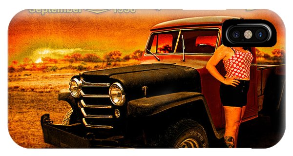Jeeping Bettie At Gantt's Garage IPhone Case