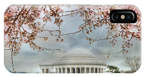 Jefferson Memorial iPhone Case - Jefferson Blossoms by Lori Deiter