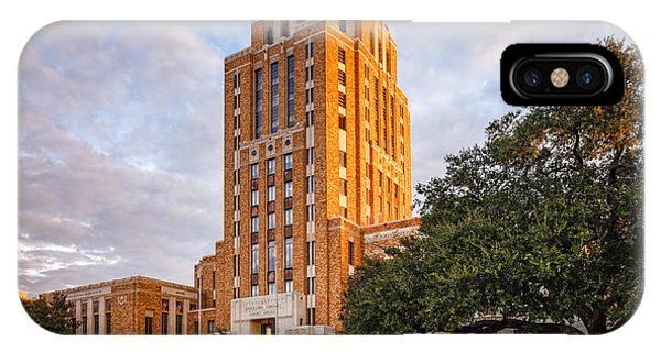 Jefferson County Courthouse At Sunrise - Beaumont East Texas IPhone Case