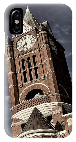 Port Townsend iPhone Case - Jefferson County Courthouse Clock Tower by Joan Carroll