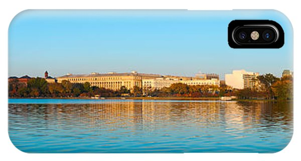 Jefferson Memorial iPhone Case - Jefferson Memorial And Washington by Panoramic Images