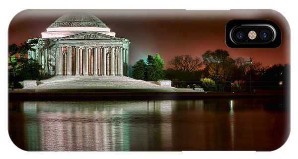 Jefferson Memorial iPhone Case - Jefferson Memorial At Night by Olivier Le Queinec