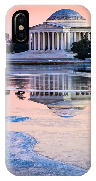 Jefferson Memorial In Winter IPhone Case