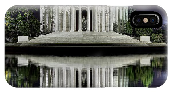 Jefferson Memorial - Night Reflection IPhone Case