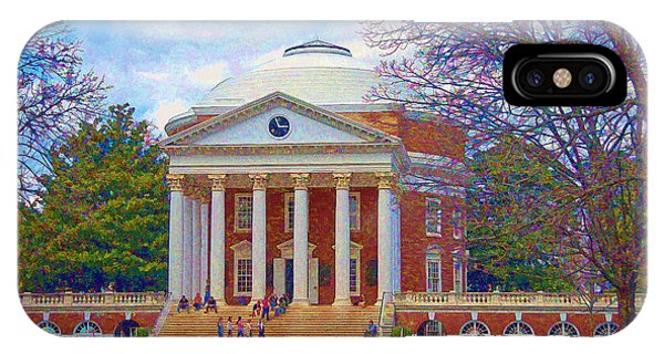 Jefferson's Rotunda At Uva IPhone Case