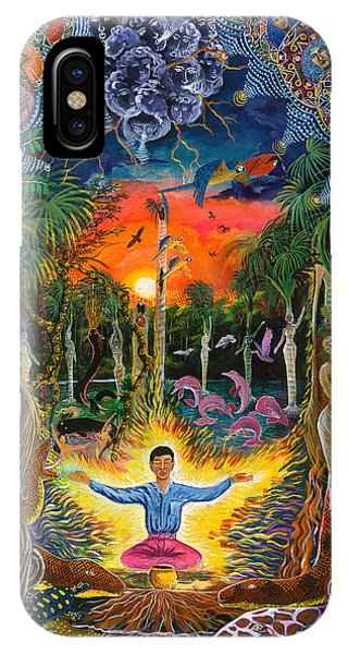 IPhone Case featuring the painting Jehua Supai by Pablo Amaringo