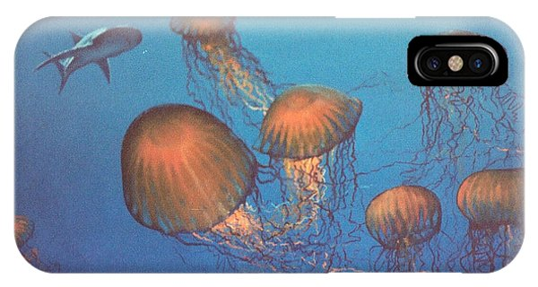 Jellyfish And Mr. Bones Phone Case by Philip Fleischer
