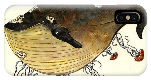 Nice iPhone Case - Jellyfish Tickling A Whale by Juan  Bosco