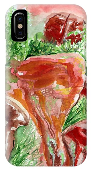 IPhone Case featuring the painting Jemez Red Rocks by Ashley Kujan