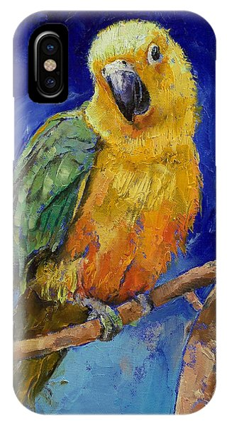 Macaw iPhone Case - Jenday Conure by Michael Creese