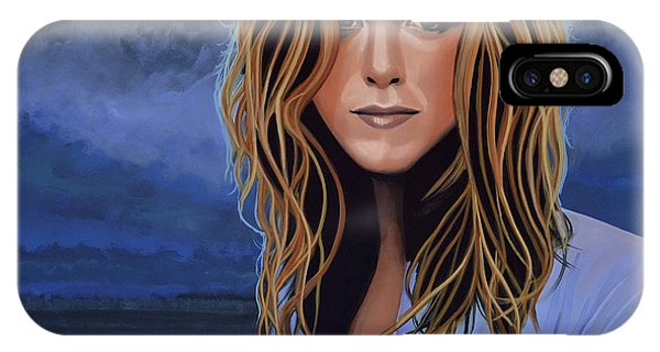 I Love You iPhone Case - Jennifer Aniston Painting by Paul Meijering