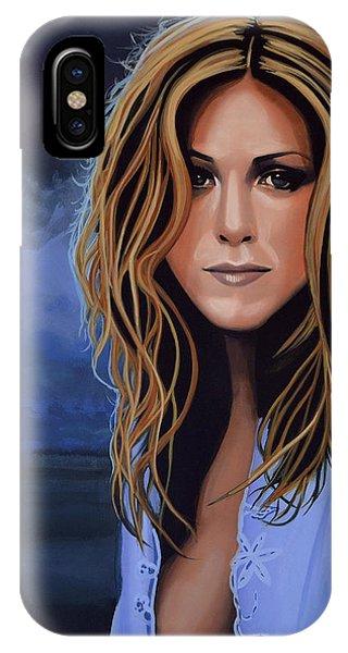 Jennifer Aniston Painting IPhone Case