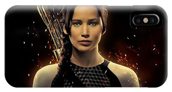 Hunger Games Jennifer Lawrence iPhone Case - Jennifer Lawrence As Katniss Everdeen by Movie Poster Prints