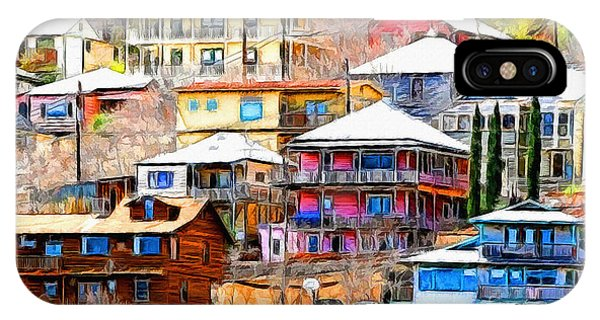Jerome Arizona Hillside Houses IPhone Case