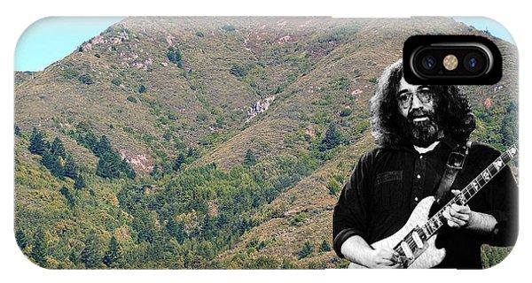Jerry Garcia And Mount Tamalpais IPhone Case