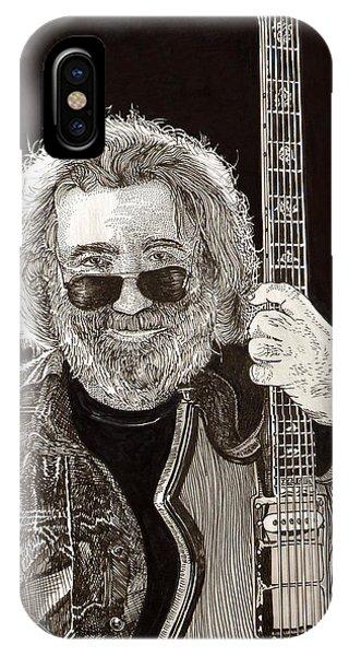 Jerry Garcia String Beard Guitar IPhone Case