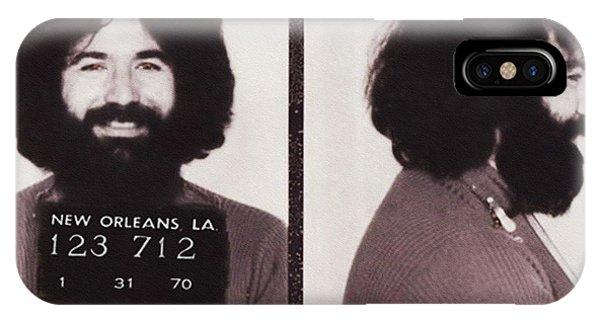 Jerry Garcia Mugshot IPhone Case