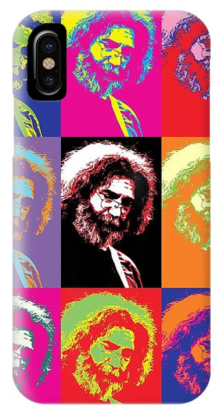 Tribute iPhone Case - Jerry Garcia Pop Art Collage by Dan Sproul