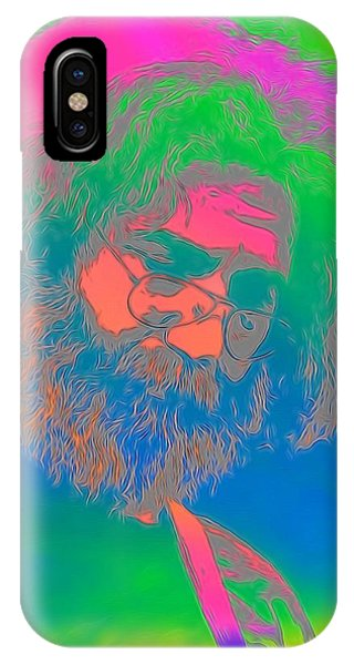 Tribute iPhone Case - Jerry Garcia Tie Dye by Dan Sproul
