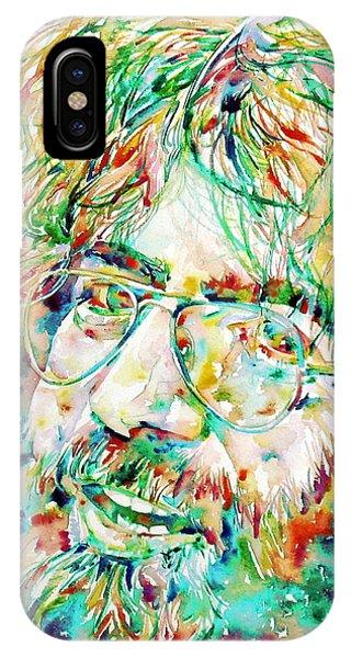 Jerry Garcia Watercolor Portrait.1 IPhone Case