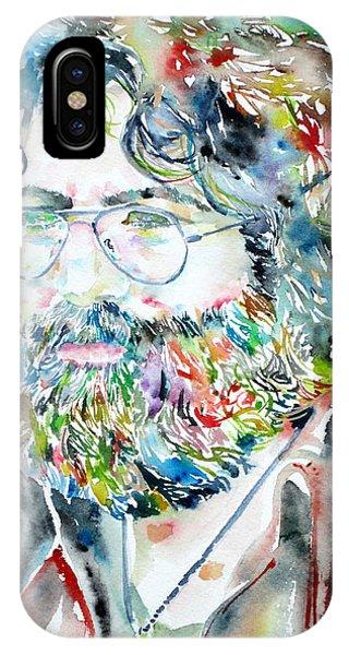 Jerry Garcia Watercolor Portrait.2 IPhone Case