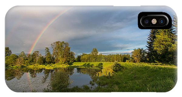 Wheeler Farm iPhone Case - Jerry Sulina Park Rainbow by James Wheeler