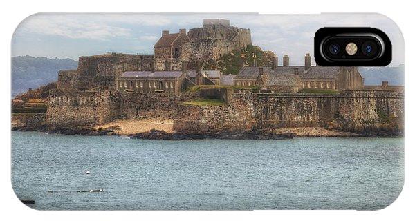 Tidal iPhone Case - Jersey - Elizabeth Castle by Joana Kruse
