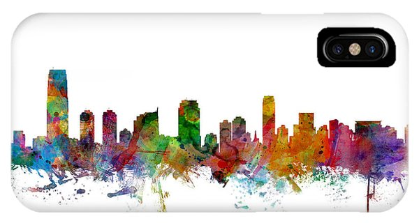 New Jersey iPhone Case - Jersey City New Jersey Skyline by Michael Tompsett