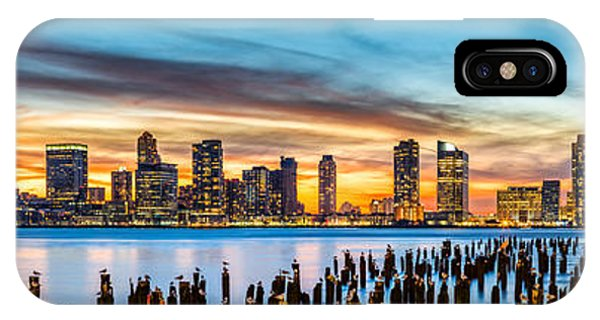 Jersey City Panorama At Sunset IPhone Case