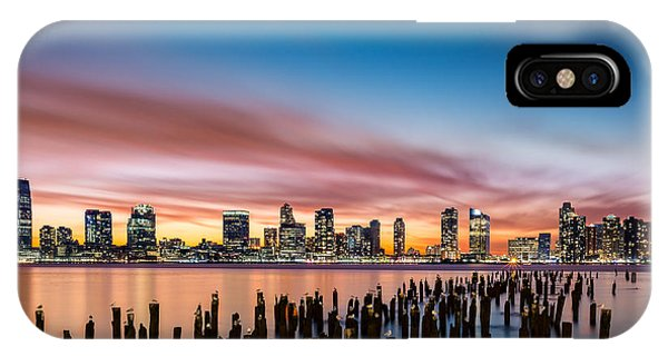 Jersey City Skyline At Sunset IPhone Case