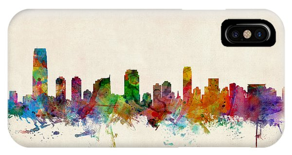 New Jersey iPhone Case - Jersey City Skyline by Michael Tompsett